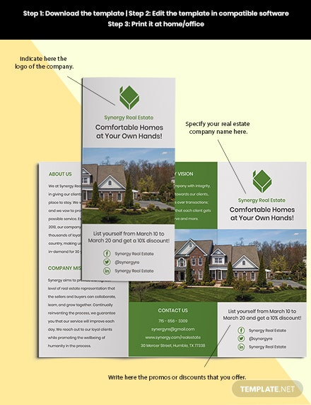 TriFold Real Estate Home Hunting Borchure Sample