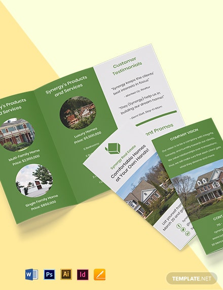 Tri-Fold Real Estate Home Hunting Brochure Template