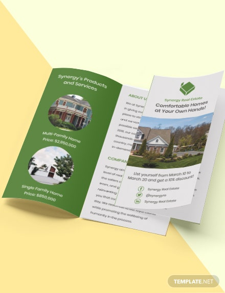 TriFold Real Estate Home Hunting Brochure Format