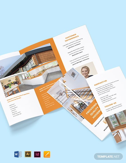 Tri-Fold Real Estate Sales Brochure Template