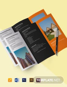 Tri-Fold Real Estate and Property Sell Brochure Template