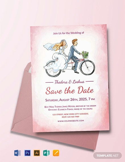 Free Simple Wedding Invitation Template