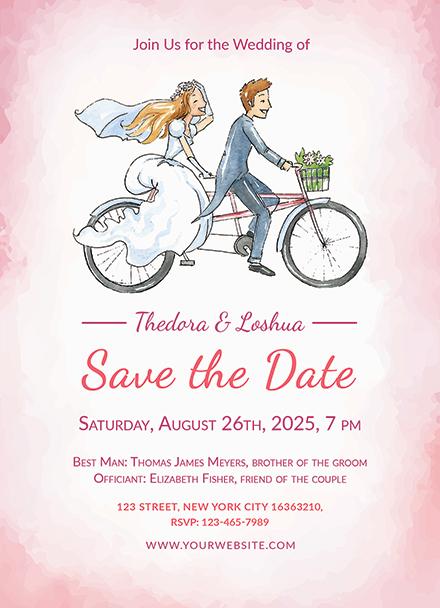Simple Wedding Invitation Template