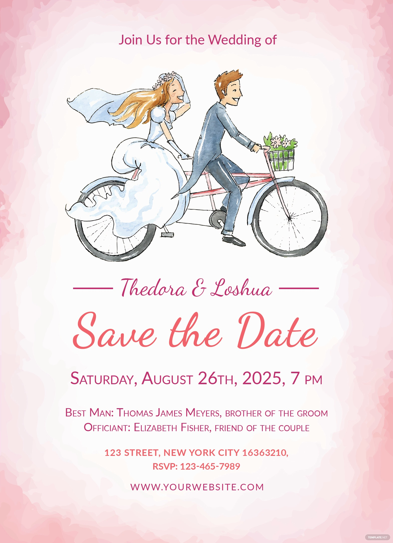 Simple Wedding Invitation Template in Adobe Photoshop, Illustrator ...