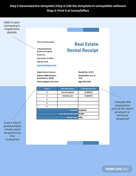Real Estate Sales Invoice Format