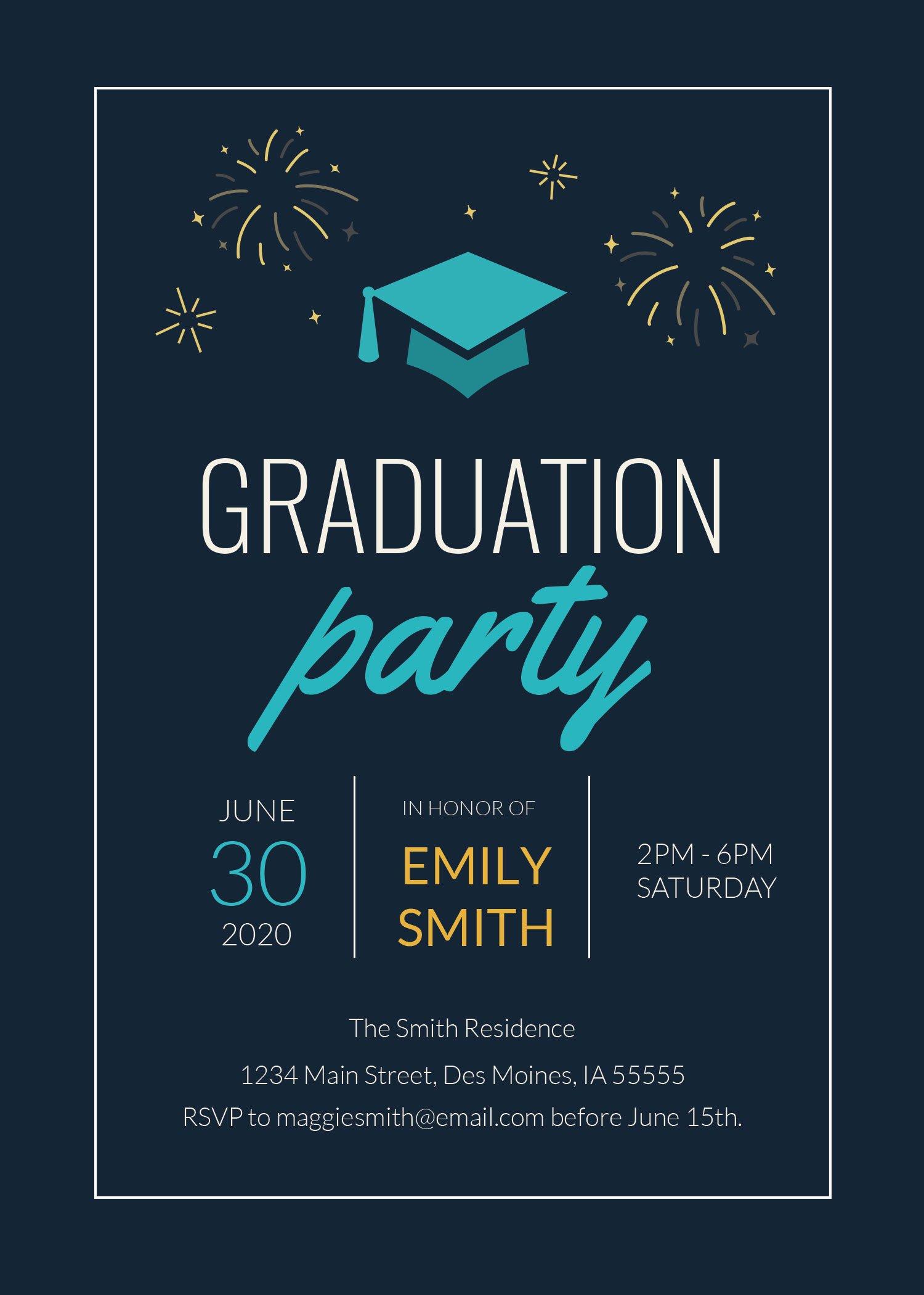 college graduation invitation template in adobe photoshop