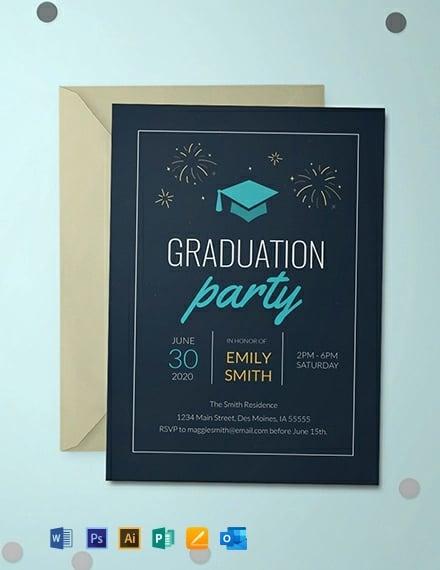 College Graduation Invitation Template