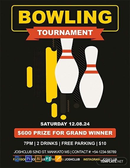 Free Bowling Flyer Template