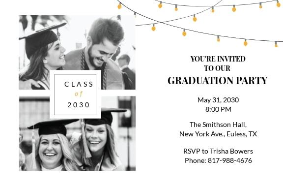Free Graduation Celebration Invitation Template
