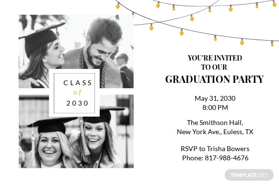 Graduation Celebration Invitation Template