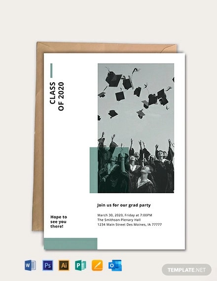 Free Graduation Party Invitation Template