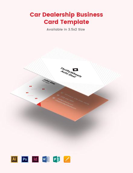 Car Dealership Business card Template