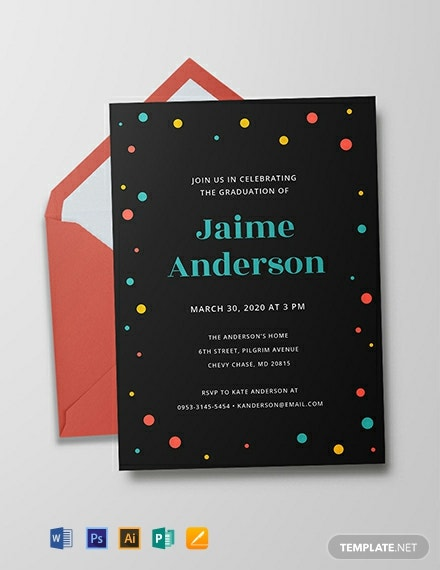 Free Kindergarten Graduation Invitation Template