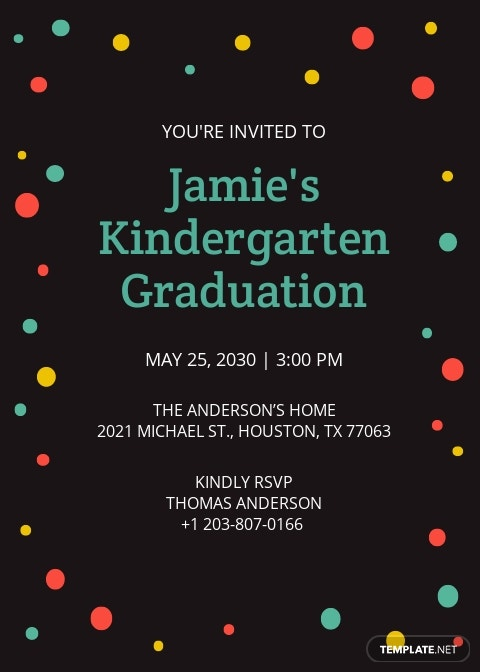 Kindergarten Graduation Invitation Template