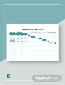 Network Project Gantt Chart Template