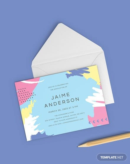 free preschool graduation invitation template