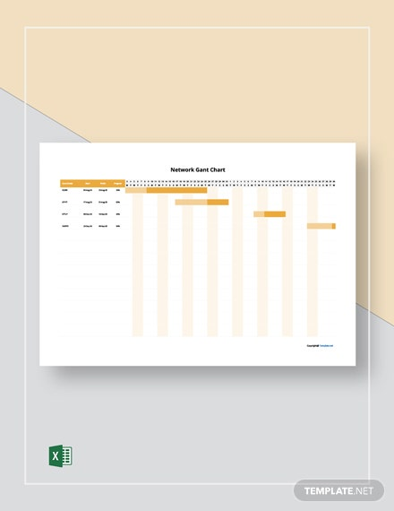 Simple Network Gantt Chart Template