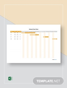 Free Simple Network Gantt Chart Template