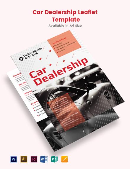 Car Dealership Leaflet Template