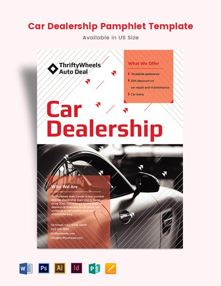 Car Dealership Pamphlet Template