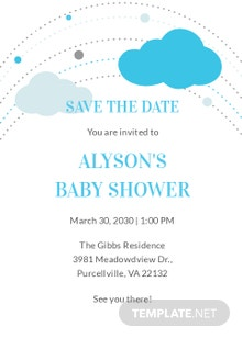 Free Save the Date Baby Shower Invitation Template