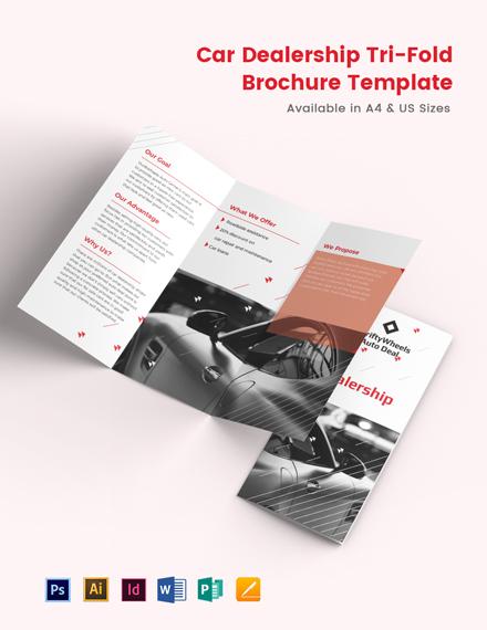 Car Dealership TriFold Brochure