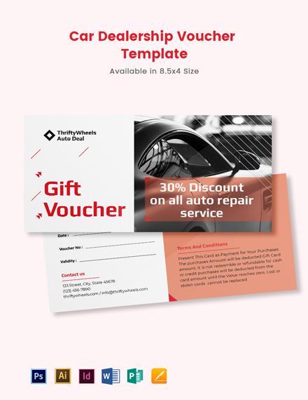 Free Car Dealership Voucher Template