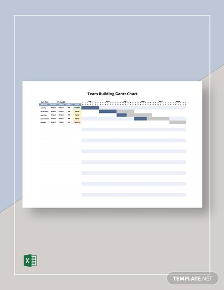 Team Building Gantt Chart Template