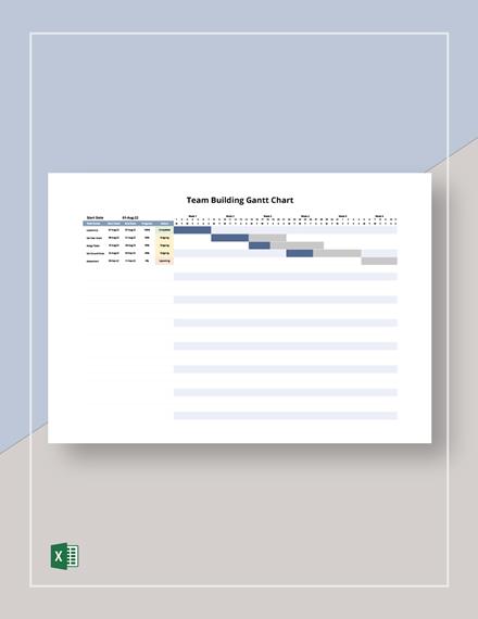 Team Building Gantt Chart Template