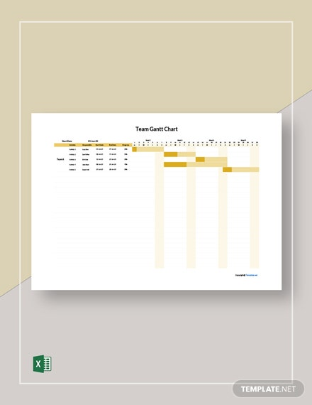 Free Sample Team Gantt Chart Template
