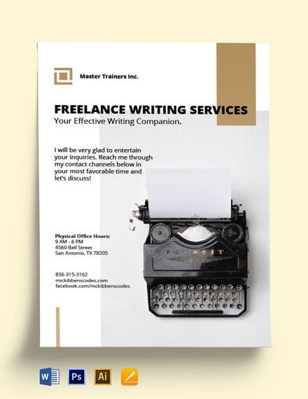 Freelance Writer Flyer Template