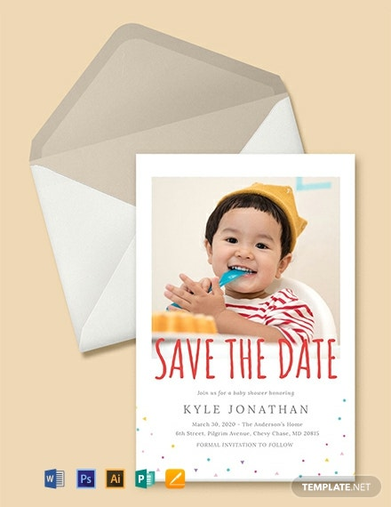 Free Save the Date Birthday Invitation Template