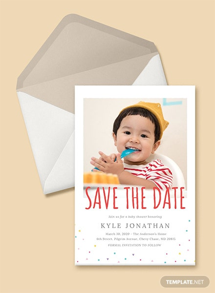 Save the Date Birthday Invitation Template