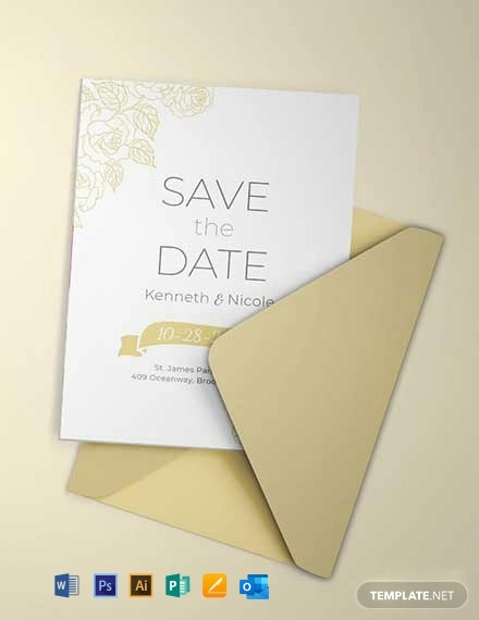 Free Save the Date Wedding Invitation Template