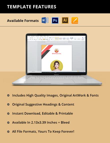 Freelance Writer ID Card Template format