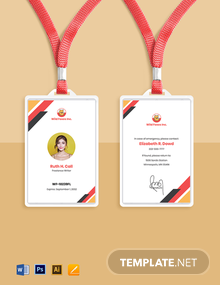 Freelance Writer ID Card Template