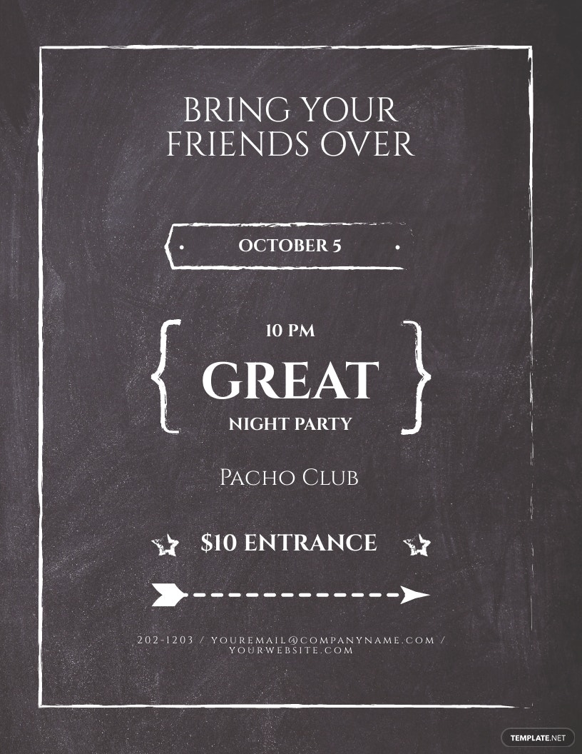 Chalkboard Flyer Template [Free JPG] - Illustrator, Word, Apple Pages, Publisher