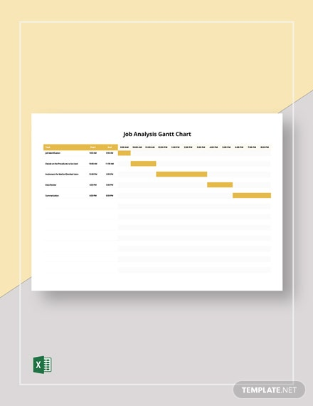 Job Analysis Gantt Chart Template