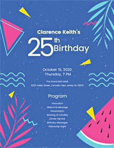 Sample Birthday Program Template