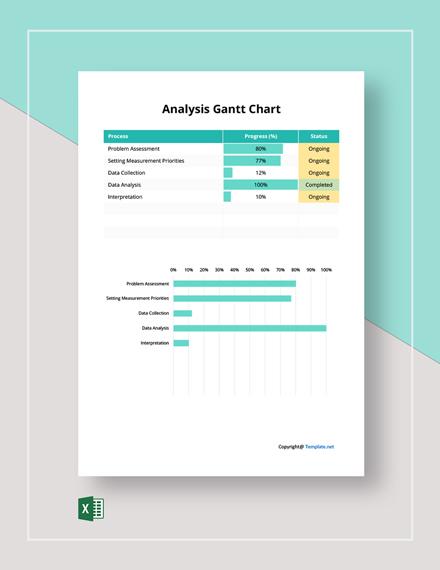 Free Sample Analysis Gantt Chart Template