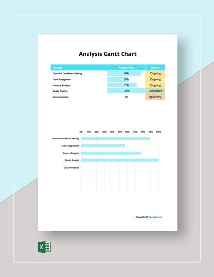 Simple Analysis Gantt Chart Template