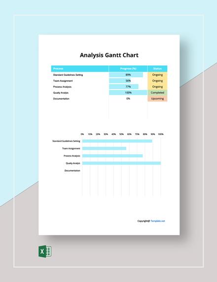 Free Simple Analysis Gantt Chart Template