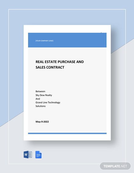 Real Estate Purchase & Sales Contract Template
