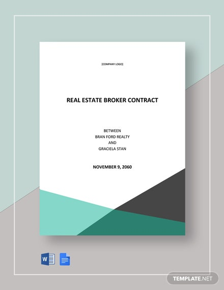 Real Estate Broker Contract Template