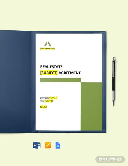 Free Real Estate Agency Agreement Template