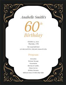 60th Birthday Program Template