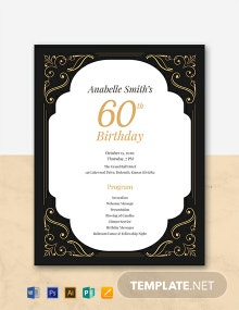 Free 60th Birthday Program Template