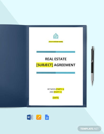 Free Basic Real Estate Agreement Template