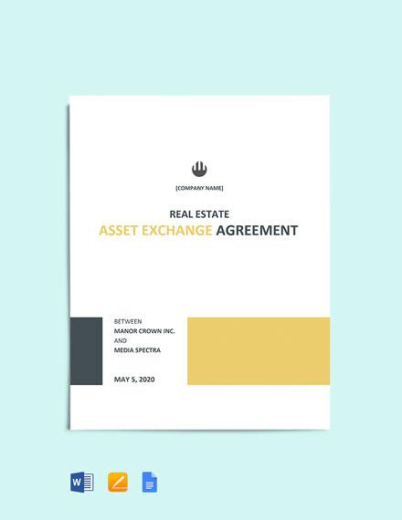 Asset Exchange Agreement Template