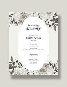 Memorial Program Template